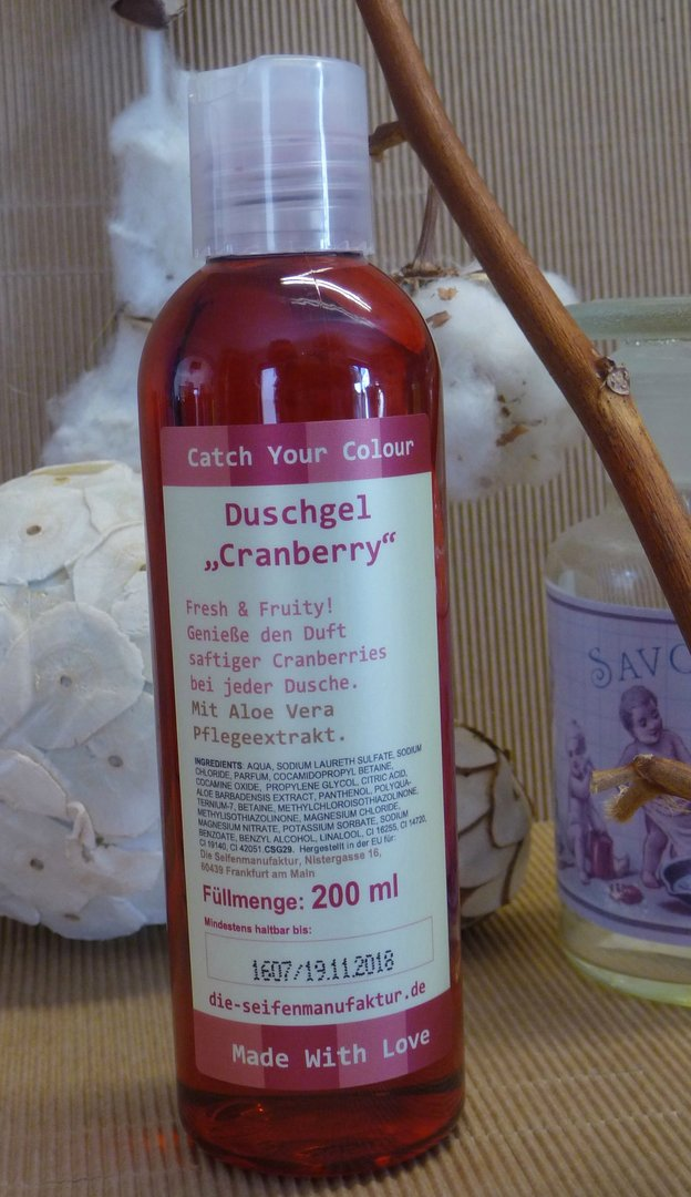 "Duschgel ""Catch your colour"" Cranberry"